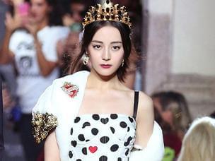 热巴时装周走秀神似混血王妃!美成洋娃娃