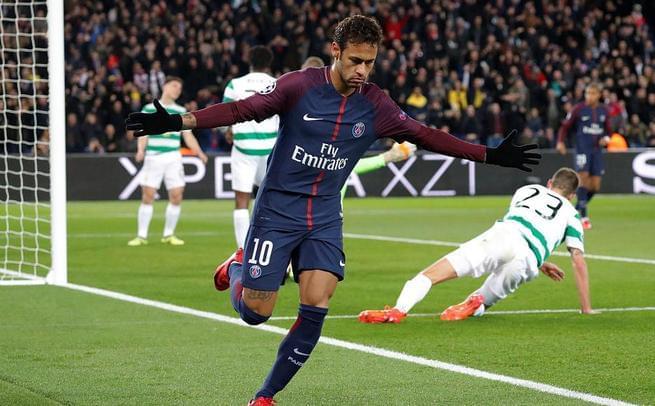欧冠-内马尔2射1传 巴黎7-1狂胜