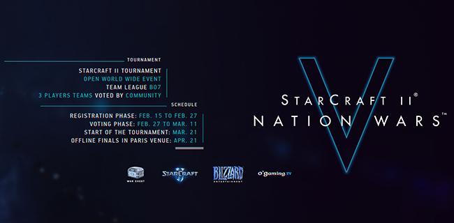 你看好谁?第五届星际争霸2国家杯选手投票开启