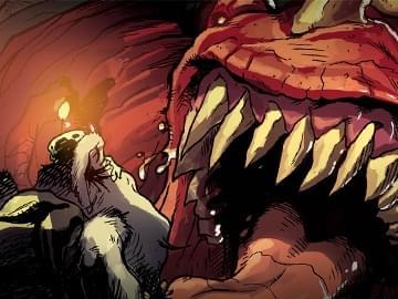 """炉石传说""""狗头人与地下世界""""漫画——天塌地陷"""