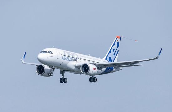 空客a319neo完成首飞 装配leap-1a发动机图片