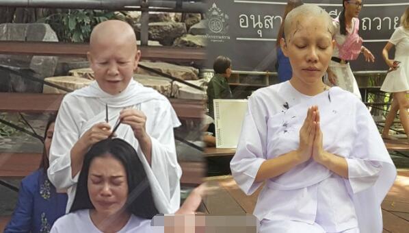 泰国性感女星削发为尼 剃度时因这件事痛哭流涕