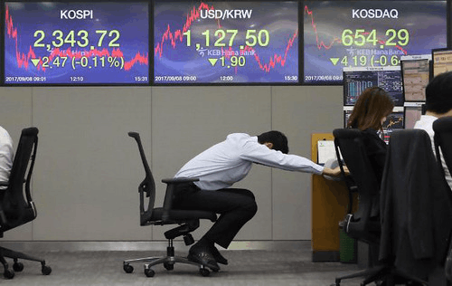 """韩媒:""""萨德""""部署后 在华韩企股价一日蒸发超万亿"""