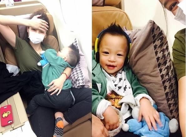 徐若瑄为了儿子能安稳睡觉 坐姿那叫一个高难度
