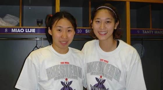 秦晓雯曾推动隋菲菲(右)登陆WNBA