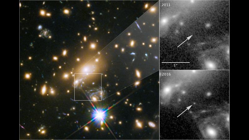 借助引力透镜,人类看到一百四十亿光年外恒星