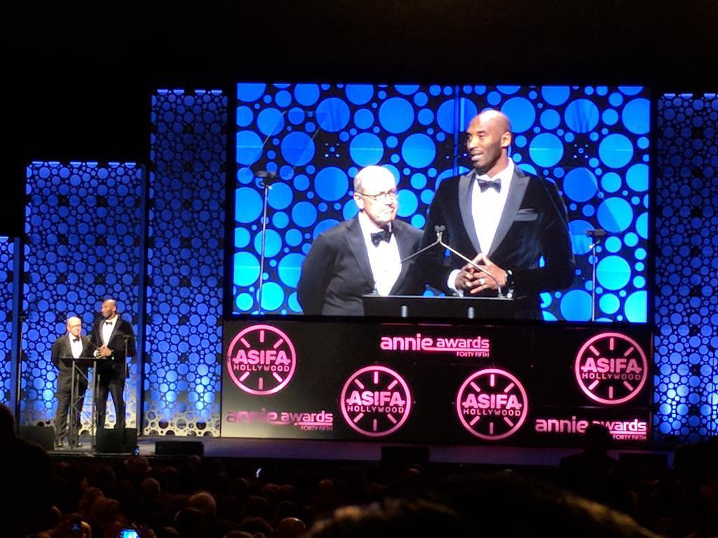 Kobe獲動畫片最高榮譽安妮獎!衝擊奧斯卡希望大增(影)