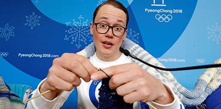 我在冬奥赛场织毛衣!这个外国教练是认真的