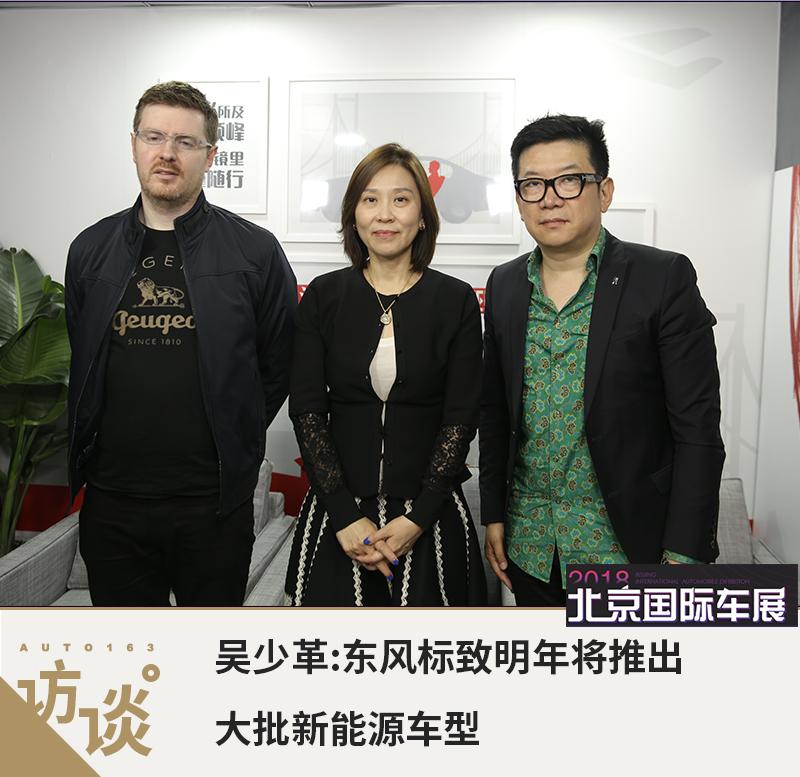吴少革:东风标致明年将推出大批新能源车型