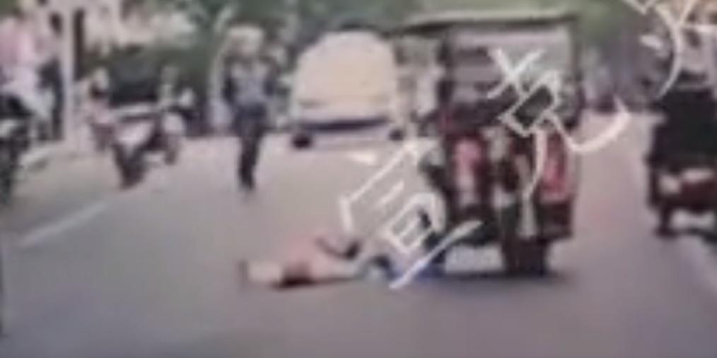 普陀一残疾车撞倒过路老人后逃之夭夭