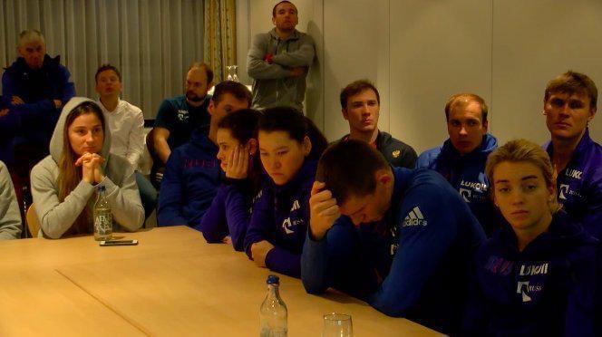 得知禁赛处罚后的俄罗斯运动员