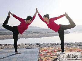 稷山县菲梵瑜伽培训中心的学员健康迎接三八节