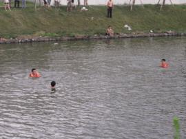 上一个溺亡者还没找到 汾河河道又有人野泳溺亡