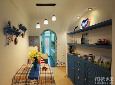 幸福猪的地中海婚房 73平米旧房改造
