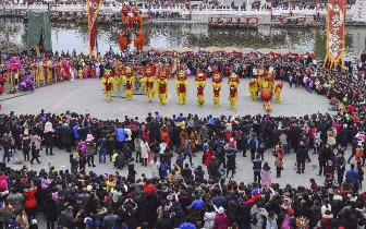 山东台儿庄古城:红红火火中国年