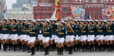 俄罗斯举行卫国战争胜利73周年阅兵彩排