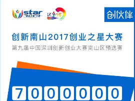 """创新南山2017""""创业之星""""大赛"""