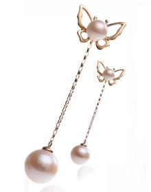 元亨利畅销款:18k金镶嵌珍珠耳线