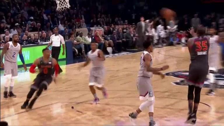 【影片】冰釋前嫌?KD雜耍妙傳助攻Westbrook空接暴扣全場高潮!