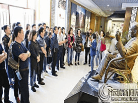 运城市文学艺术界代表 赴赵树理文学馆集体学习