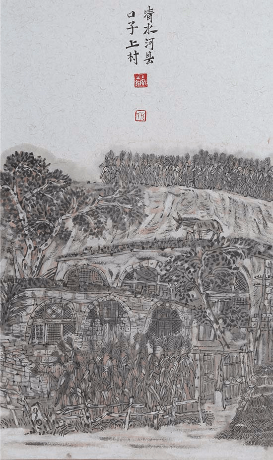 蒙古族画家孙玉宝国画作品欣赏