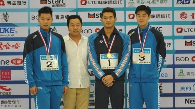 冠军赛200米仰泳徐嘉余破全国纪录夺冠