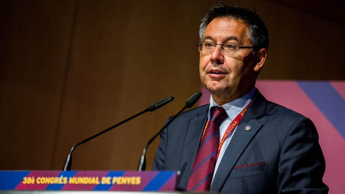 巴萨主席谈离开西甲可能性:根据政治局势来决定