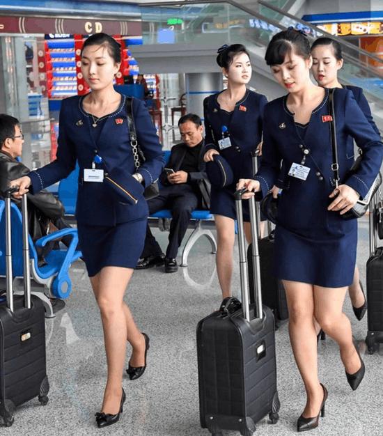 靓瞎眼!朝鲜空姐的新版制服