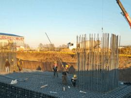 长春物流港项目桩基数量突破1000根