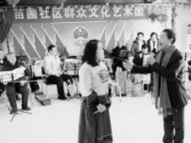 闻喜一社区群众文化艺术团编演节目弘扬德孝文化