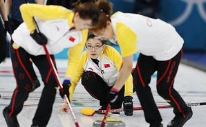 中国冰壶女队力克加拿大迎晋级曙光