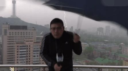 用生命在播报 气象主播遭雷劈!