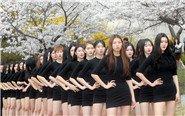 韩国大学生穿紧身热裙走秀