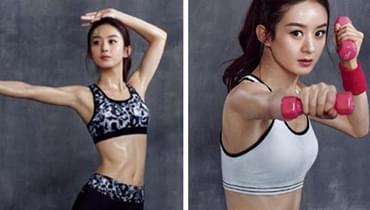 赵丽颖秀性感腹肌 女性想要练出腹肌是不是很难