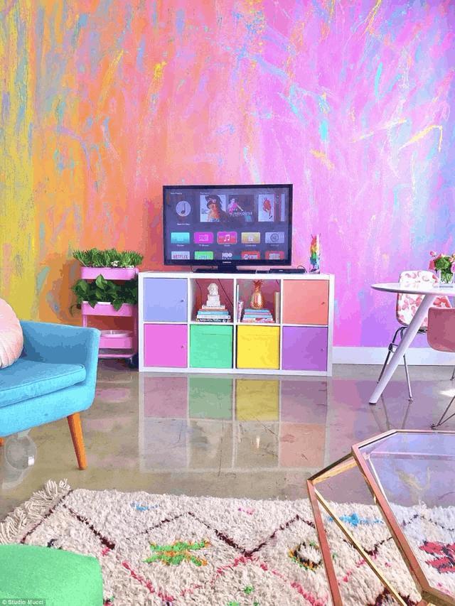 她把房间改造成彩色仙境 简直让人少女心爆棚啊