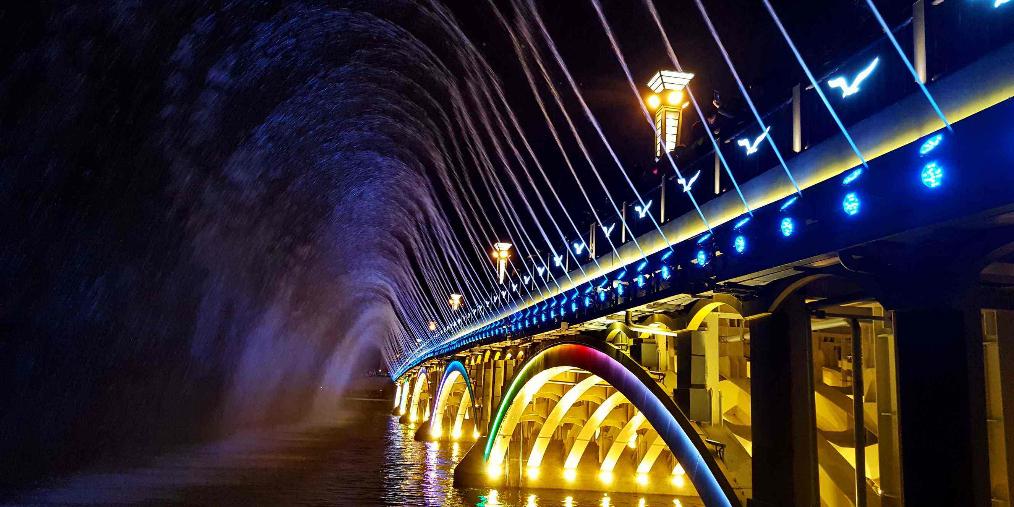 21日起南湖大桥音乐喷泉开放时间调整