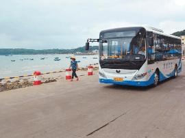 北海涠洲岛通电动公交车啦!结束无公交车的历史