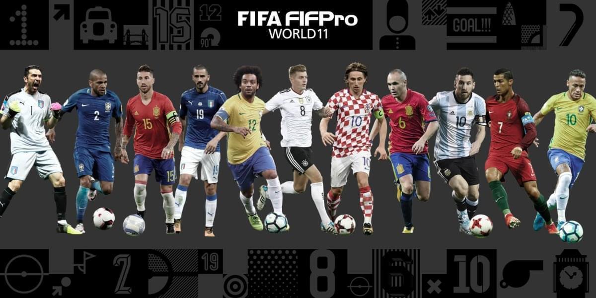 FIFA年度最佳阵容:梅罗领衔 皇马巴萨尤文包揽