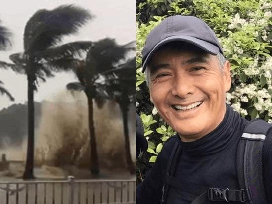 神秘男子台风天街头砍树清路 没想到竟是周润发!