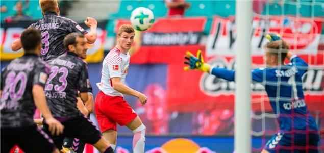 德甲综述-莱比锡半场4球4-1逆转 汉堡3-1两连胜