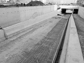 虎峪河横跨新晋祠路与大王路的高架桥主体完工
