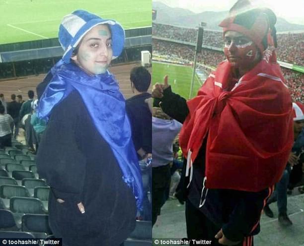伊朗球迷女扮男装现场看球被逮捕 面临法律制裁