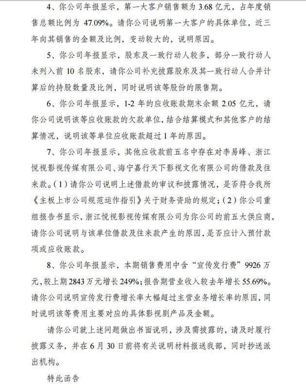 李易峰借款1800万 所在公司年报遭问询