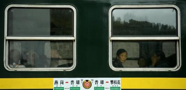 """成昆铁路线""""绿皮车"""":穿行大凉山票价最低2元"""