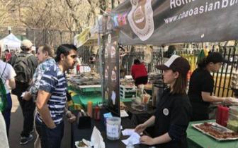 纽约华埠喜士达街集市开张 中国美食飘香