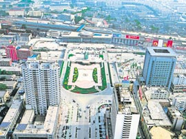 火车站南广场改造禁夜间施工 要求严格抑尘严控噪音