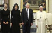 特朗普携妻女会见罗马教皇