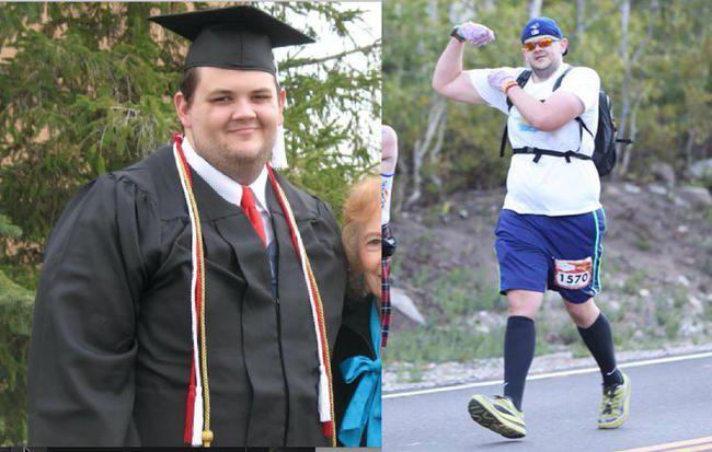 男子因肥胖抑郁沮丧 跑步8年狂瘦163斤
