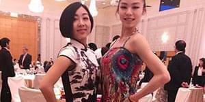 总决赛晚宴隋文静穿中国风短裙