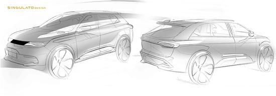 未来感十足 奇点汽车首款车型设计图曝光